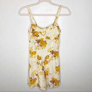 Free People Yellow Floral Romper